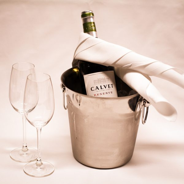 En flaska vitt VIP